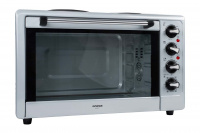 Multifunctional electric oven with two plates