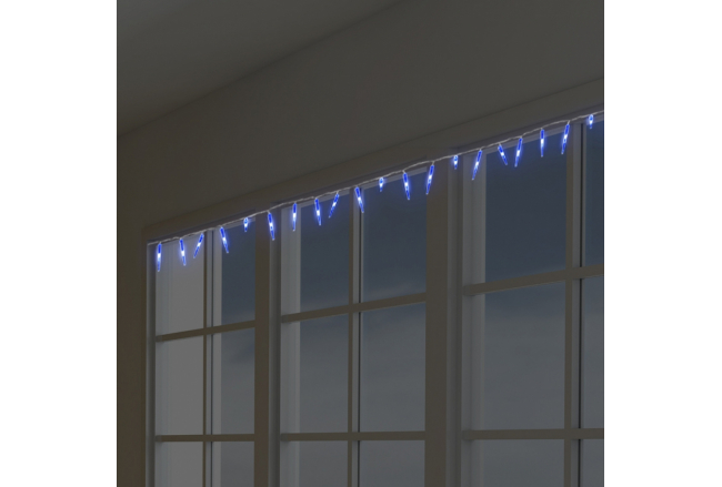 Blue Christmas LED lights - icicles