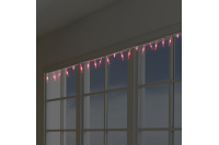 Red Christmas LED lights - icicles
