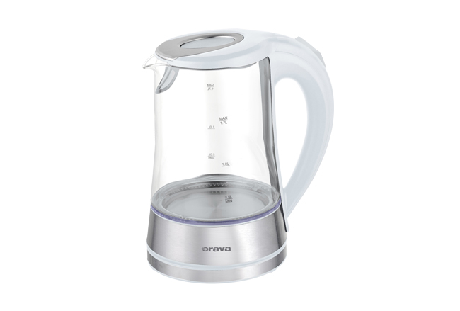 Hot water kettle 1,7 L glass