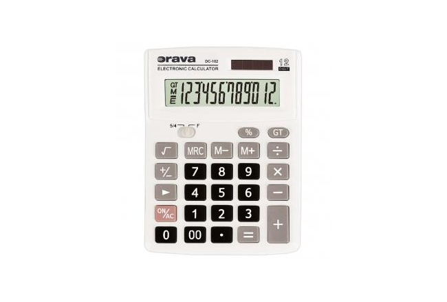 Office calculator with large 12-digit display