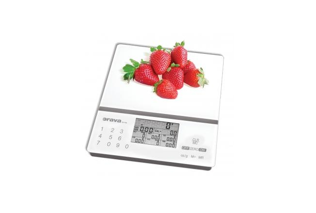 Kitchen scale with nutritional calculator