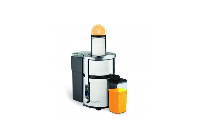 Centrifugal fruit and vegetable juicer
