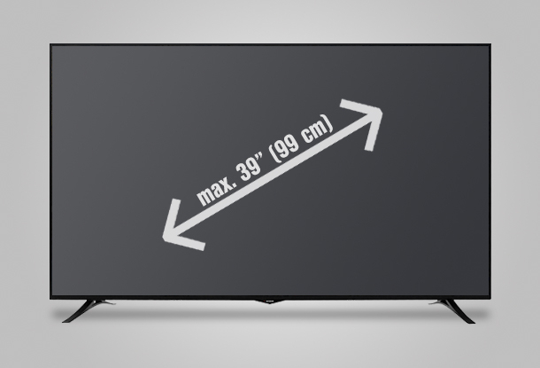 "Led TV to 39"" (99 cm)"