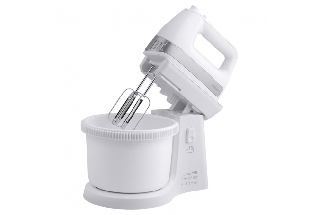 Electric hand mixer with container